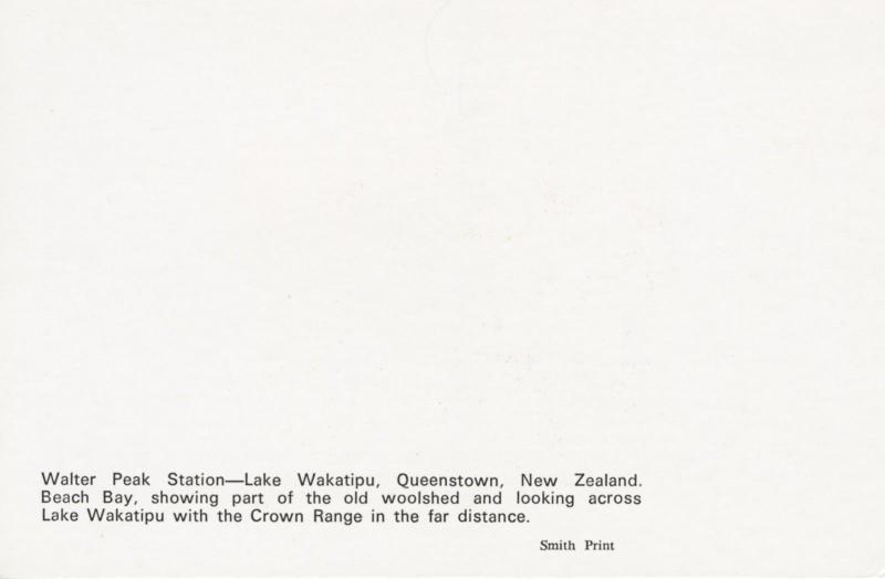Lake Wakatipu Walter Peak Station Queenstown NZ Beach Bay Vintage Postcard D22
