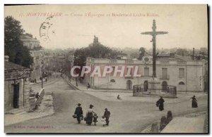 Postcard Former Bank Montpellier Caisse d & # 39Epargne and Boulevard Ledru R...