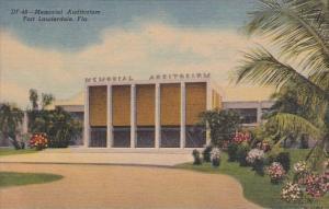 Florida Fort Lauderdale Memorial Audditorium 1957 Curteich