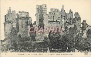 Postcard Ancient Ruins Chateau de Pierrefonds before the Restoration
