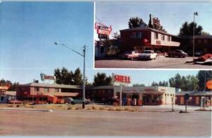 1960s Shell Gas Service Station, Brook's Motel & Cafe, Caldwell, Idaho z8