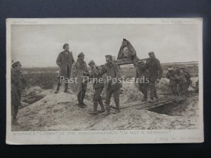 WW1 WOUNDED TOMMY - IM NOT A GERMAN c1914-18 Postcard by Daily Mail