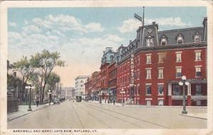 Bardwell And Merchants Row Rutland Vermont 1916