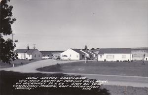 Michigan Fergus Falls New Motel Lakeland 1953 Real Photo