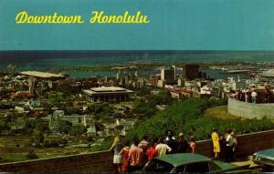 Hawaii Honolulu Downtown Aerial View 1971