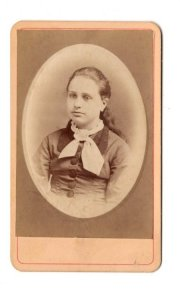 2.5 X 4 inch Young Girl's 1870-95 Vintage Studio Photo Marshall, Guelph, Ontario