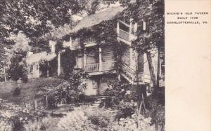 Michie's Old Tavern Built 1735 1765 Charlottesville Virginia Albertype
