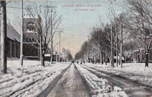 OTTAWA, Ontario, Canada, PU-1908; Laurier Avenue In Winter
