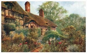 Stratford-Upon-Avon  Anne  Hathaway's Cottage  Outside View of Cot...