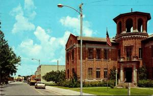 Florida Auburndale East Park Street From The City Hall 1977