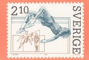 Sweden Swedish High Jump Postal History Postcard
