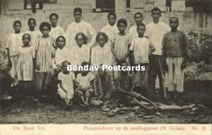 dutch new guinea, Papua Foster Children on the Mission Station (1910s)