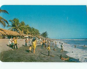 Vintage Postcard Beach at Puerto Madero Tapachula  Mexico # 1119
