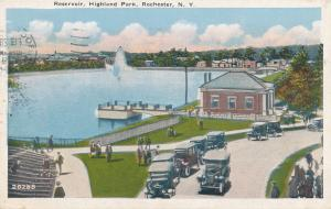 Highland Park - Old Cars at Reservoir, Rochester, New York - pm 1929 - WB
