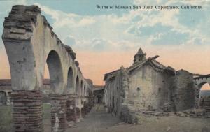 Ruins of Mission SAN JUAN CAPISTRANO, California 1900-10s