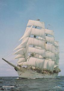The Crownwork Russian Barque at Leningrad 1970s Postcard
