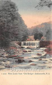 River Scene Grahamsville NY Unused