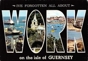 Bamforth Postcard I've forgotten all about Work, on the Isle of Guernsey #564