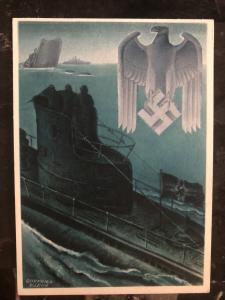 Mint Germany Patriotic Postcard Kriegsmarine WW2