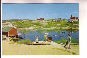An Artist's Paradise, Peggy's Cove, Nova Scotia, Len Leiffer