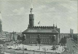 Denmark, Kobenhavn, Copenhagen, City Hall Square Postcard