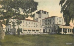 1940s Hotel Del Monte California hand colored Albertype postcard 2950