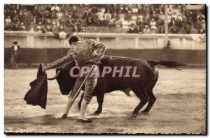 Old Postcard Bullfight Bullfight Bullfight in France A splendid natural left ...