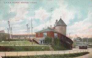 WINDSOR , Ontario, Canada, 1909 ; C.P. Railroad Station