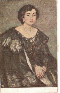 R. CANALS.Retrato. Portrait of a lady Fine painting, vintage Spanish PC