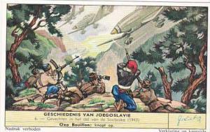 Liebig Trade Card History Of Yugoslavia No Gevechten in het dal van de Soetje...