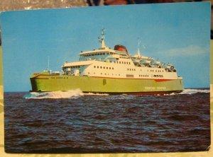 Postcard Transport Ferry MV Free Enterprise VI Townsend Thorsen Zeebrugge - unpo