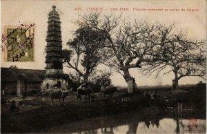 CPA AK INDOCHINA Tonkin Pagode consacre au culte du lingam VIETNAM (957362)
