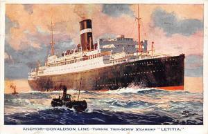 S.S.Letitia,    Anchor - Donaldson Line