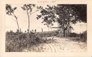 Saskatchewan Canada Big Quill Lake Camping Scene  Real Photo Postcard J79842