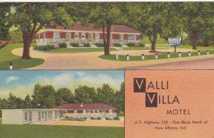 Indiana New Albany Valli Villa Motel U S Highway 150 Curteich sk1377