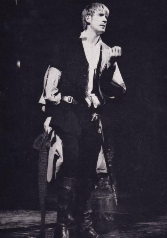 David Warner as Hamlet Rare Shakespeare Theatre Company Postcard