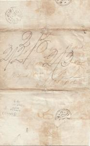 Stampless Cover , Paris to London , 1819 ; Absentee Landlord Letter