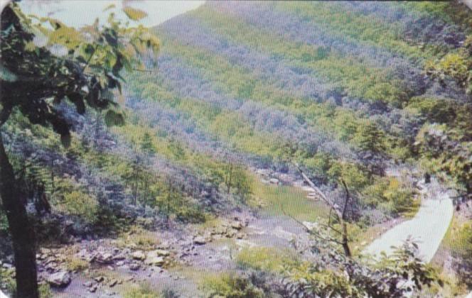 Goshen Pass Looking East Between Lexington and Staunton Virginia