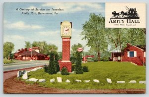 Duncannon PA~3:10 PM on Amity Hall Hotel Grounds~RR Stop~1940s~Burned Down 2009