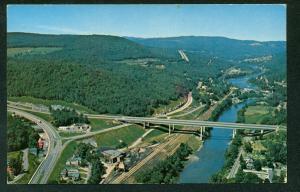 VERMONT WHITE RIVER Junction Bridge Scene Postcard