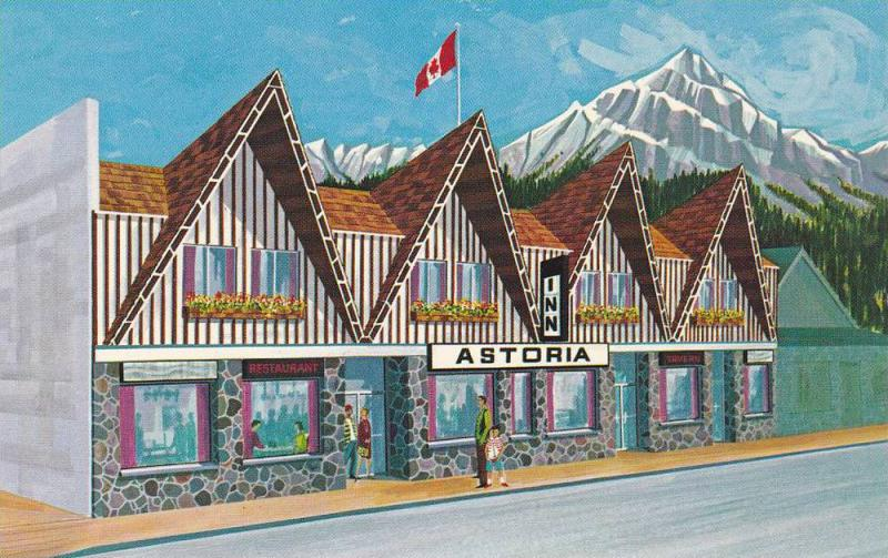 Exterior,  Astoria Motor Inn,  Jasper National Park,  Alberta,  Canada,  40-60s