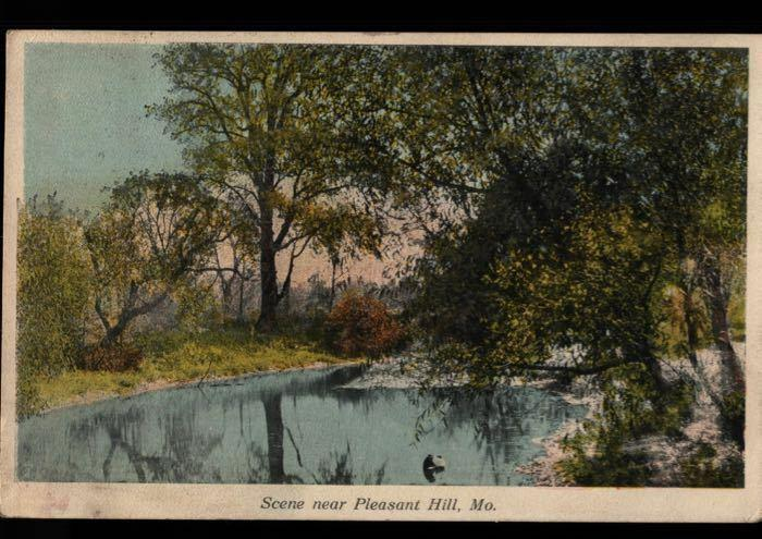 Pleasant Hill MO Independence Missouri River Scene Mrs. Ed Russell Postcard B05