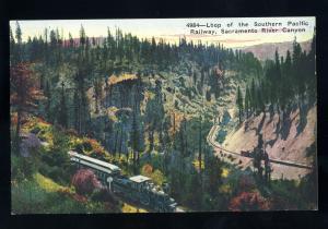 Sacramento, California/CA Postcard, Loop Of The Southern Pacific Railway/RR
