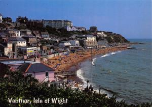 Postcard The Beach and Esplanade Ventnor, Isle of Wight by J. Salmon Ltd N24