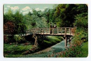 Postcard Rustic Bridge Mt. Washington Park Kansas City Mo. Standard View Card