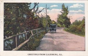 Illinois Greetings From Galesburg 1927