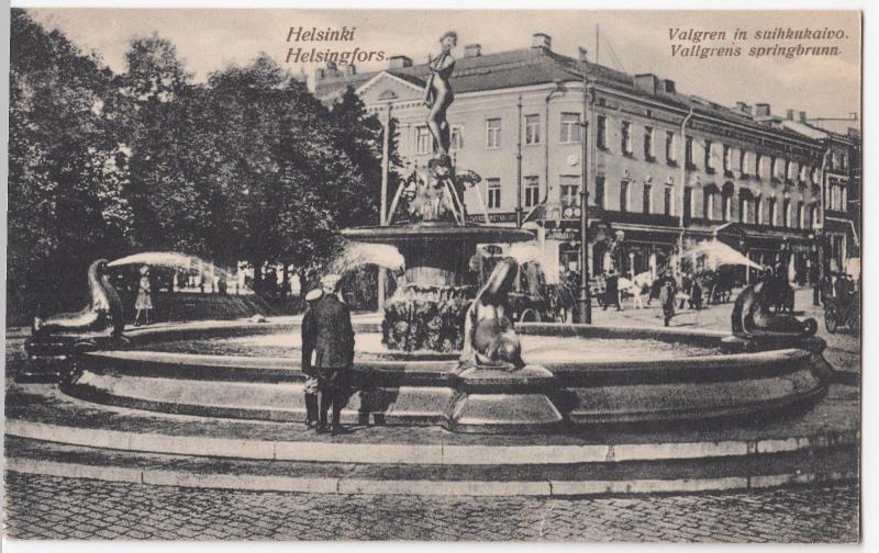 Finland; Helsinki, Havis Amanda Fountain By Valgren c 1920's PC Unposted