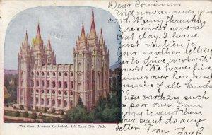 [SOLD] SALT LAKE CITY, Utah, PU-1911; The Great Mormon Cathedral