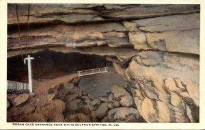 West Virginia White Sulphur Springs Organ Cave Entrance Curteich