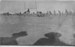 F25/ Interesting RPPC Photo Postcard c1910 Football Game Stadium Shadows 9